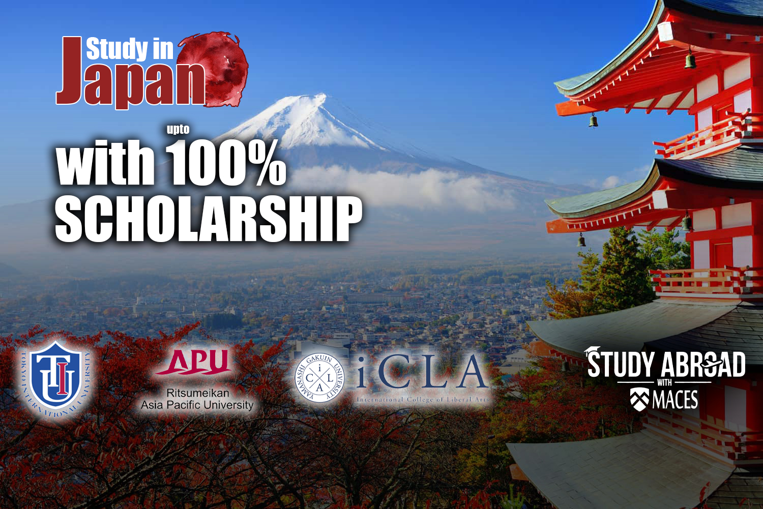 Study in Japan with Scholarship - Japan Application Week Study Abroad with MACES-Education Consultancy