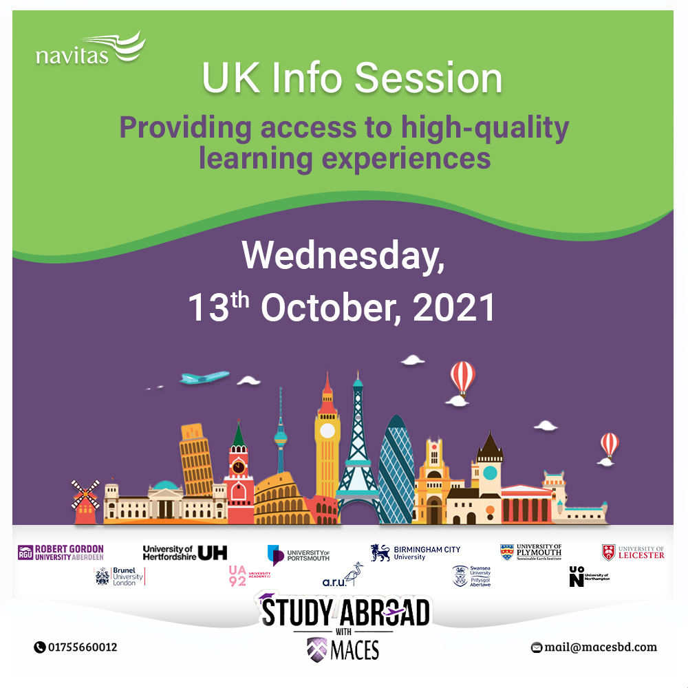 Meet NAVITAS UK info Session at MACES Study Abroad with MACES-Education Consultancy